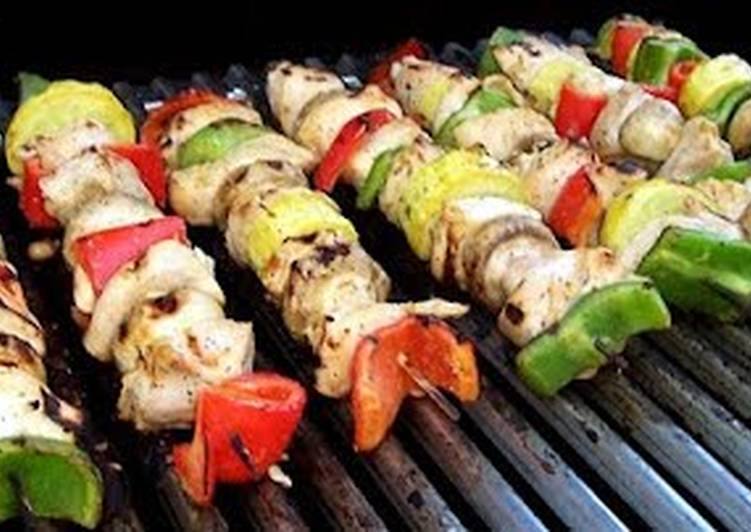 Garlic Lime Chicken Kabobs