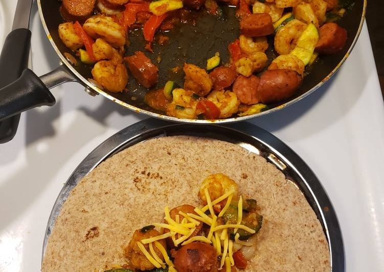 Recipe: Perfect 1 skillet andouille sausage & shrimp