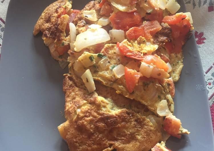 Omelette tomate