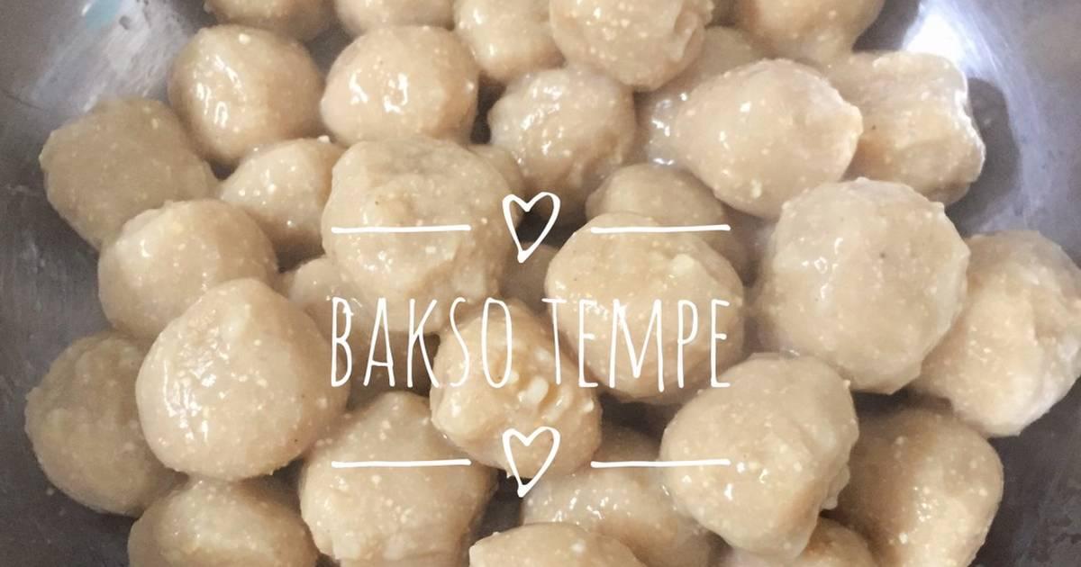 Resep Bakso Tempe Simple Kenyal Oleh Rimaulin Cookpad