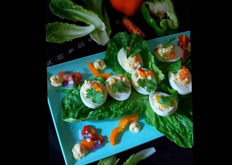 Indian salsa deviled eggs