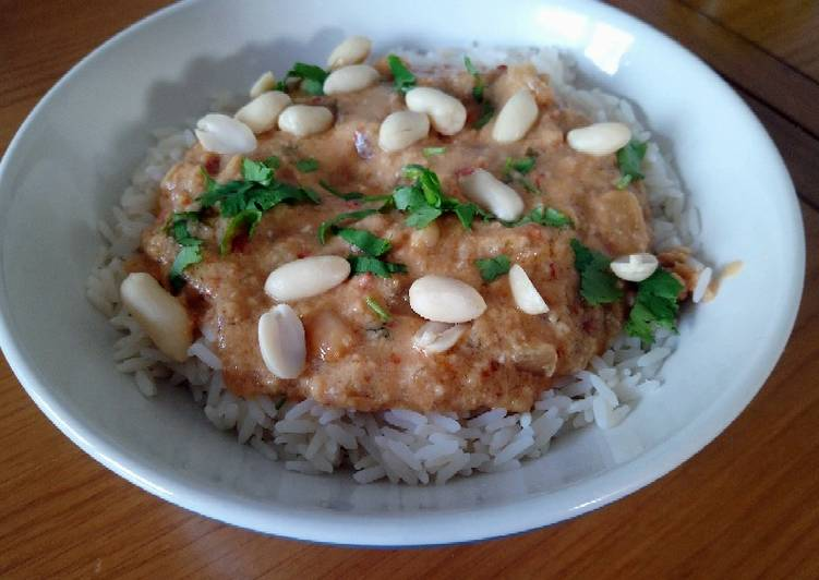 Peanut Butter Chicken in a Slow Cooker