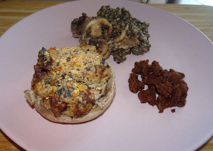Champignons farcis (vegan) (#1recette1arbre #onerecipeonetree #entreeschics)