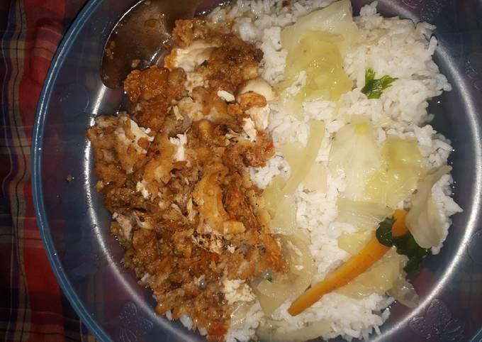 ayam geprek sambel tempe + sayur sop - resepenakbgt.com