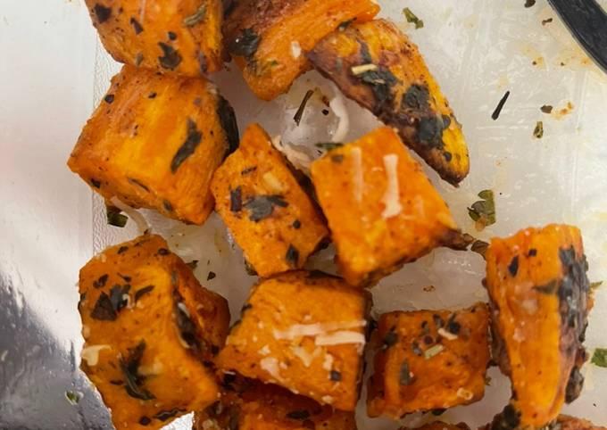 Parmesan and herb sweet potatoes