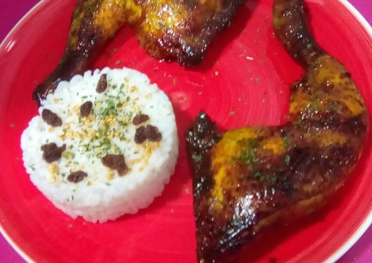 Receta más fácil: Sabroso Pollo al horno con curry y miel
