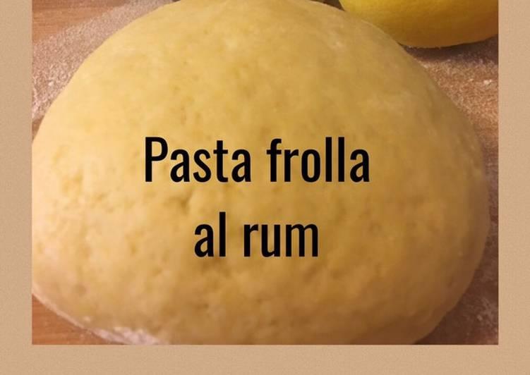 Pasta frolla al rum