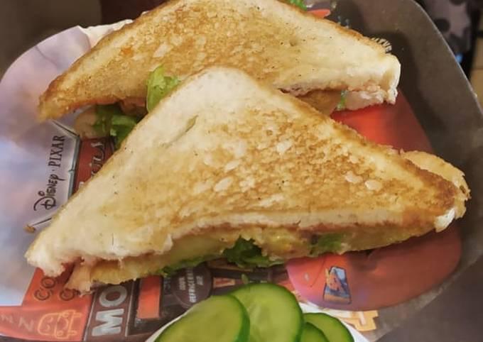 Healthy breakfast sandwich