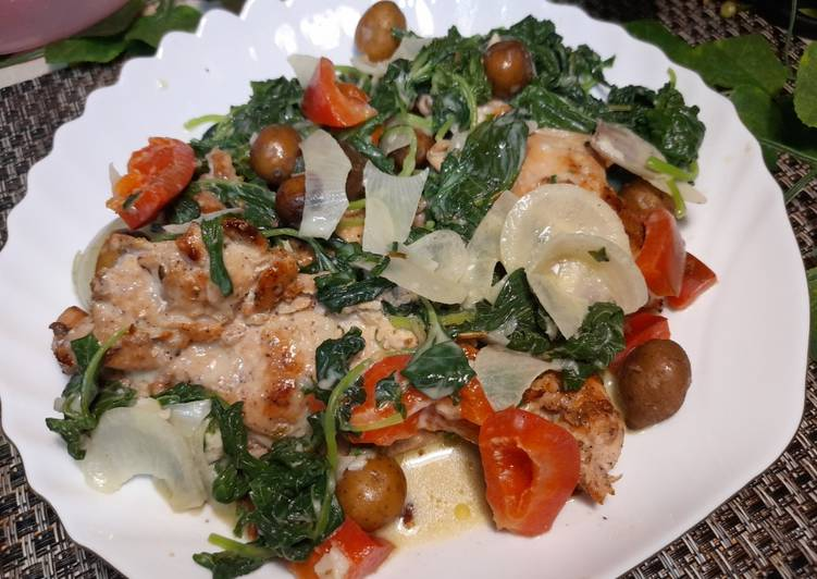 Chicken Florentine versi mudah