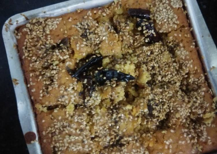 How to Prepare Most Popular Baked Watermelon Rind Handva Without Oven