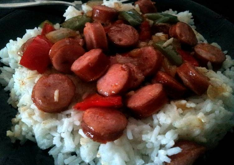 Sausage, Peppers, and Rice