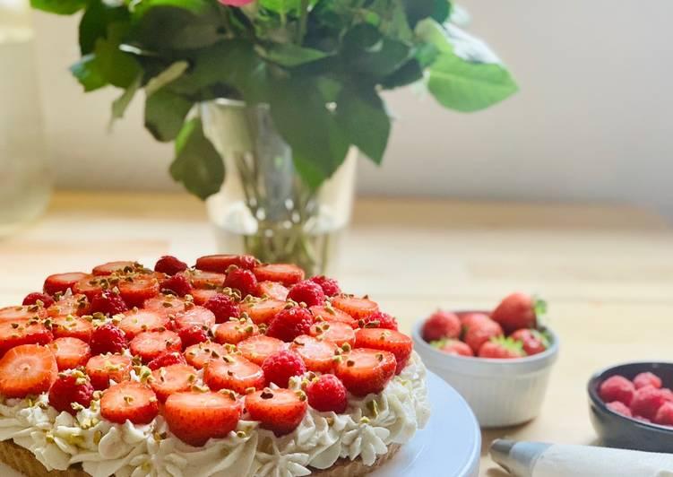 Nos 6 Meilleures Recettes de Tarte aux fraises et framboise revisitée