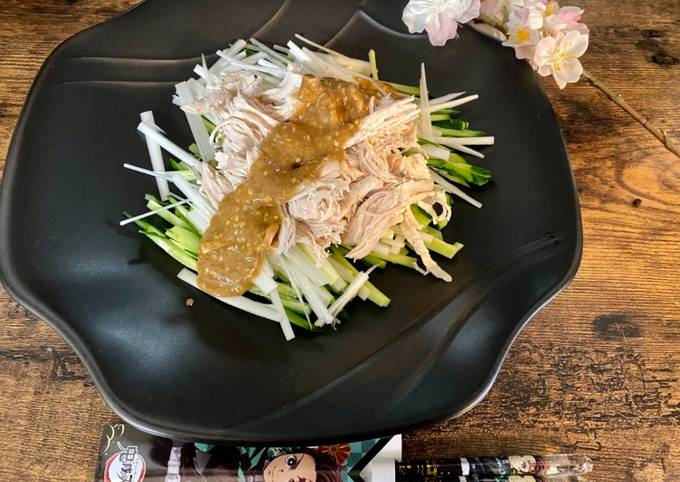 Chicken Salad with Miso and Sesame sauce