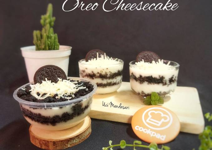 Langkah Mudah untuk Membuat Oreo Cheesecake Simple 💕, Enak Banget