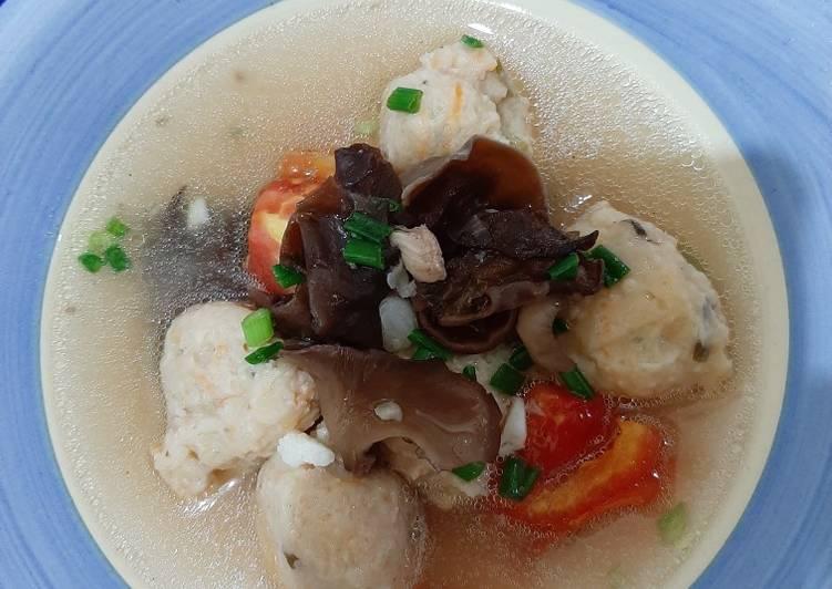 Sup Kimlo Bakso Udang Ayam