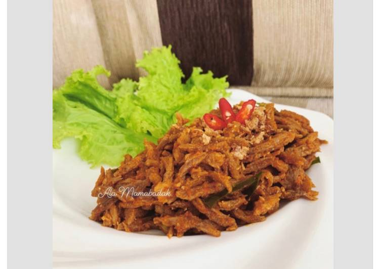 Resep Unggulan Suwir Daging Sapi Pedas Super Resep Masakanku