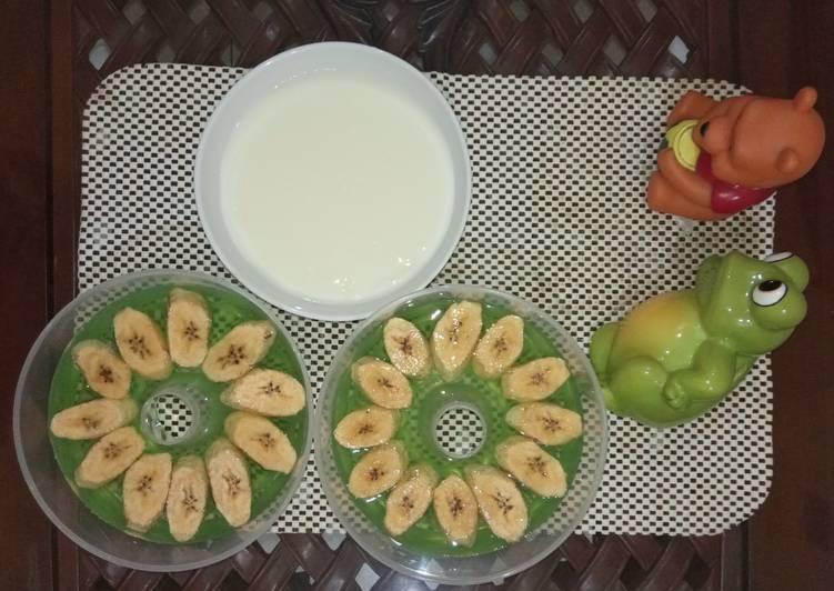 Jelly Melon Pisang siram Fla Susu