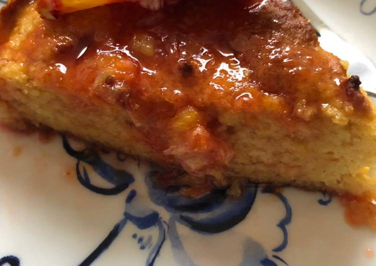 Blood orange cake - with a vegan option