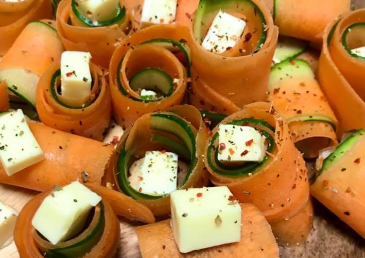 Rolled Vegetable Salad