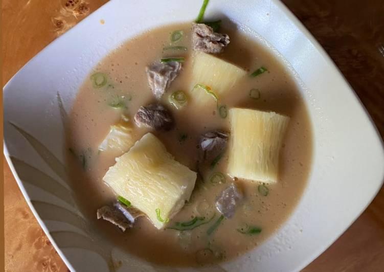Soto singkong daging khas sumenep madura