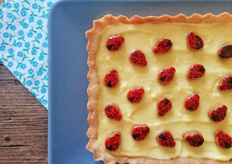 Crostata portafortuna alla crema