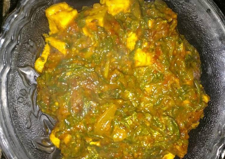 10 Minute Steps to Prepare Blends Palak paneer in red gravy