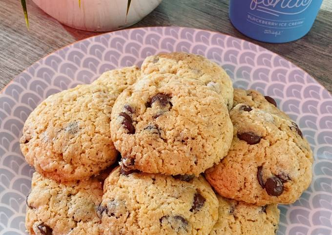 Cookie au chocolat sans beurre à l'huile de coco