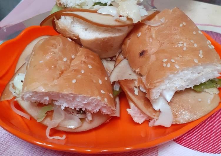 Recipe: Yummy Chicken fillet Sandwich