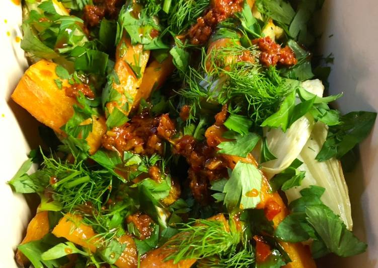 How to Prepare Favorite Roast carrot and fennel with harissa - vegan