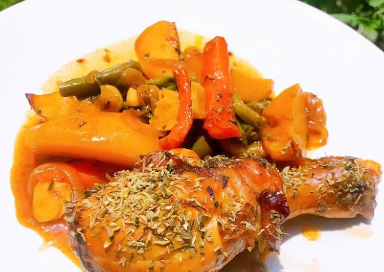 Resep Roast Chicken thighs 🍗🍗 Anti Gagal
