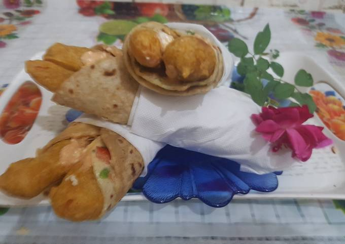 Paneer french fries roll I Paneer french fry roll at home I Paneer fries Roll