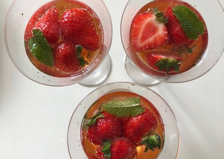 Recipe of Super Quick Homemade Sozzled Strawberry Snifter