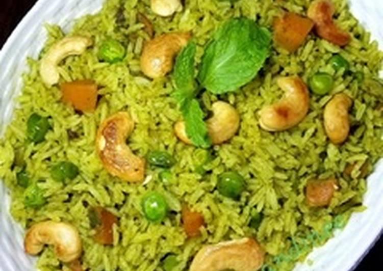 Steps to Make Favorite Mint pulao