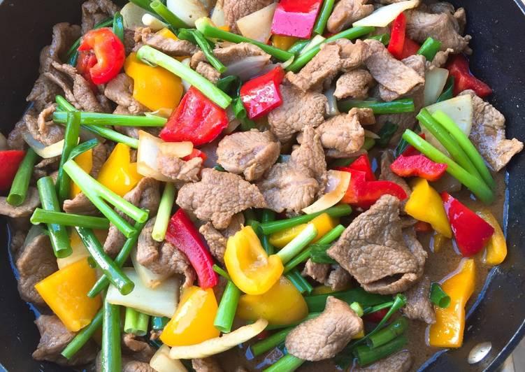 Stir fried beef