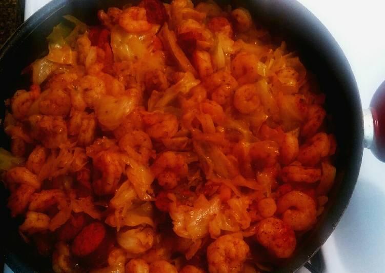 Fried Cabbage w/ shrimp & sausage
