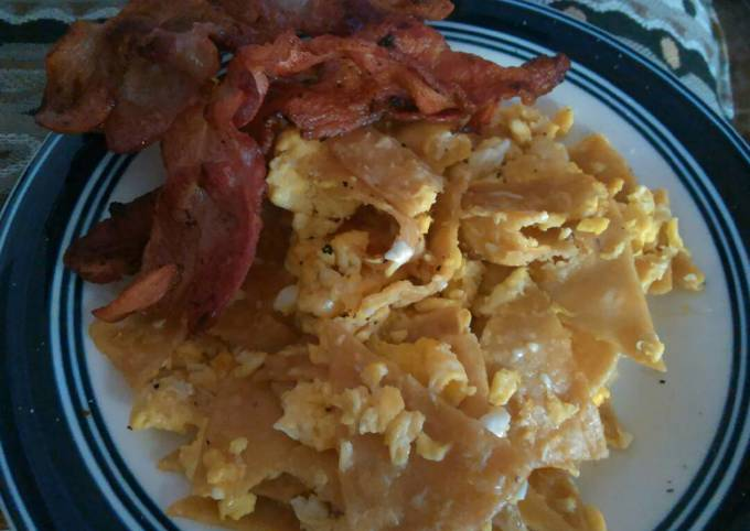 Chilaquiles with Bacon