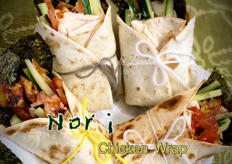 Nori Grilled Chicken Wrap - velavinkabakery.com