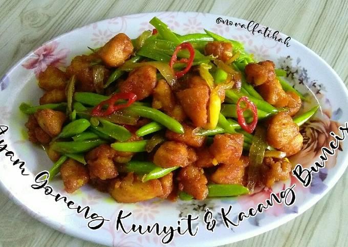 Ayam Goreng Kunyit & Kacang Buncis