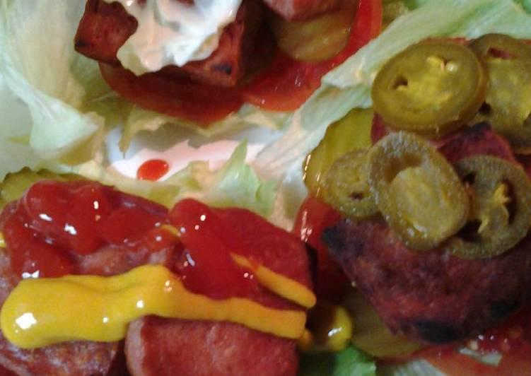 Fried Spam Lettuce Wraps