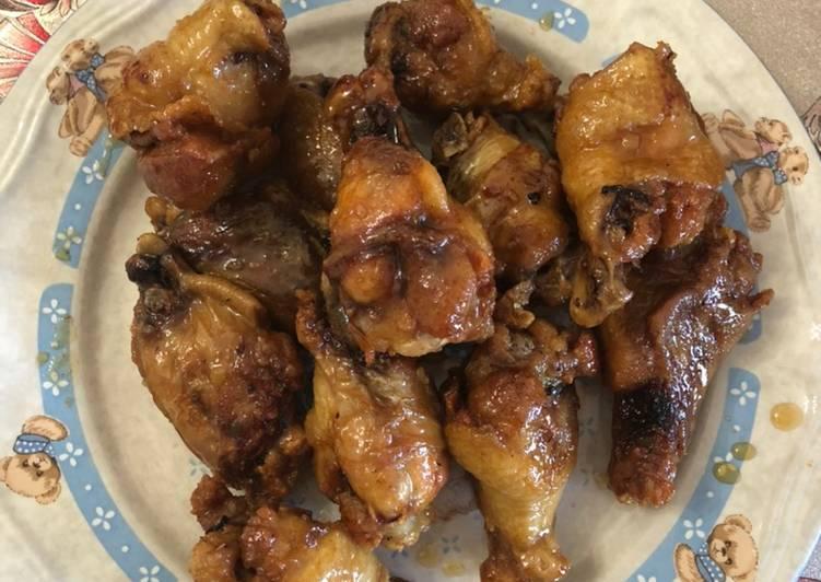 Resep Chicken wings with Honey lemon garlic Anti Gagal
