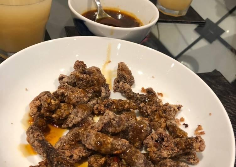 Crispy chilli beef 🥩 🌶 🍯