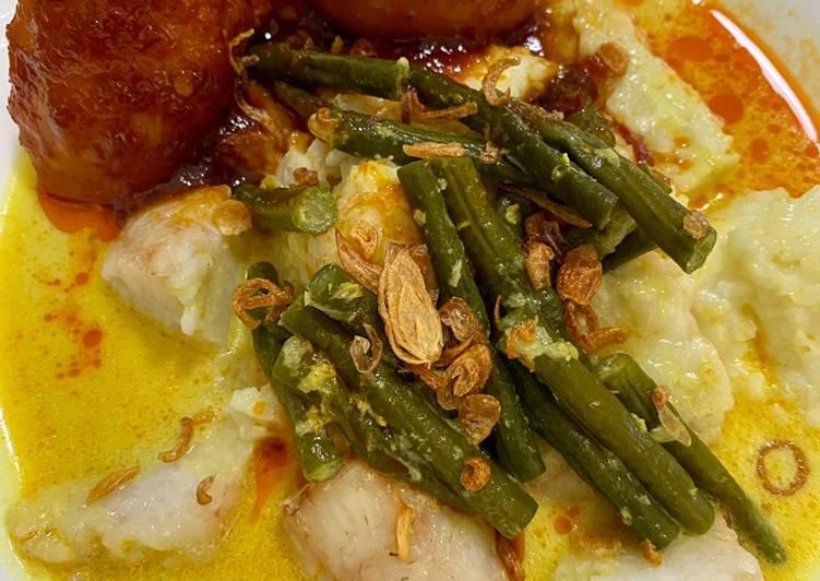 Ketupat sayur/Lontong Banjar dan Masak habang
