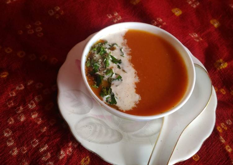 Steps to Prepare Perfect Date tomato soup