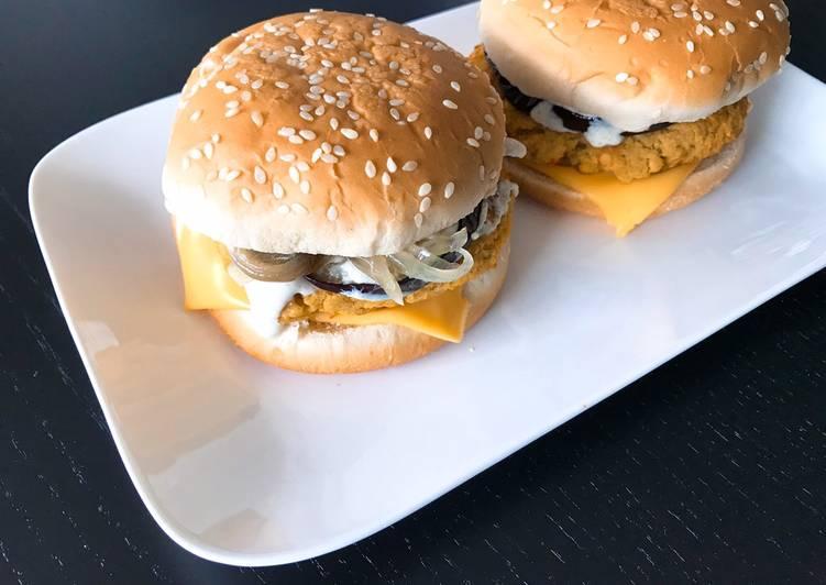 Steak de lentilles corail pour burger végétarien