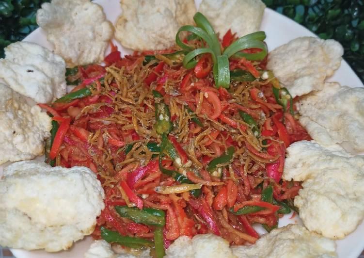 Kulit Tangkil mix teri nasi