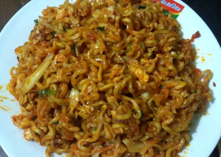 Indomie goreng Aceh mak nyooss😊😊