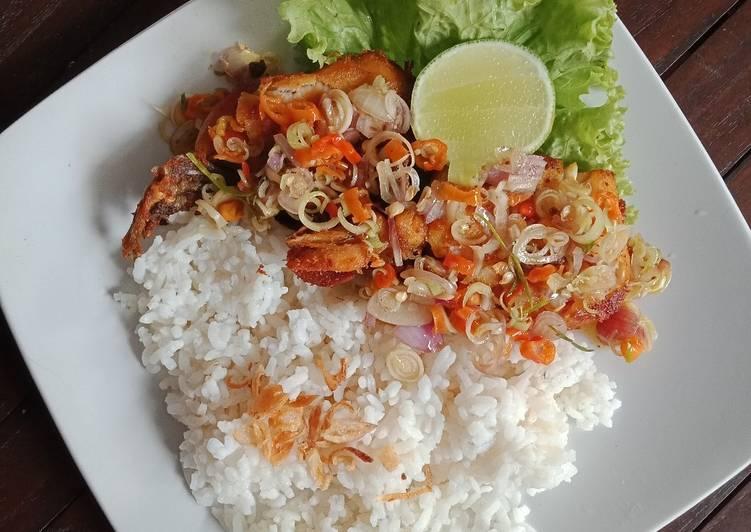 Nasi Ayam Geprek Sambal Matah