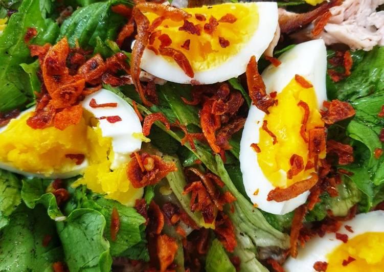 Salad Ayam Dan Telur Rebus