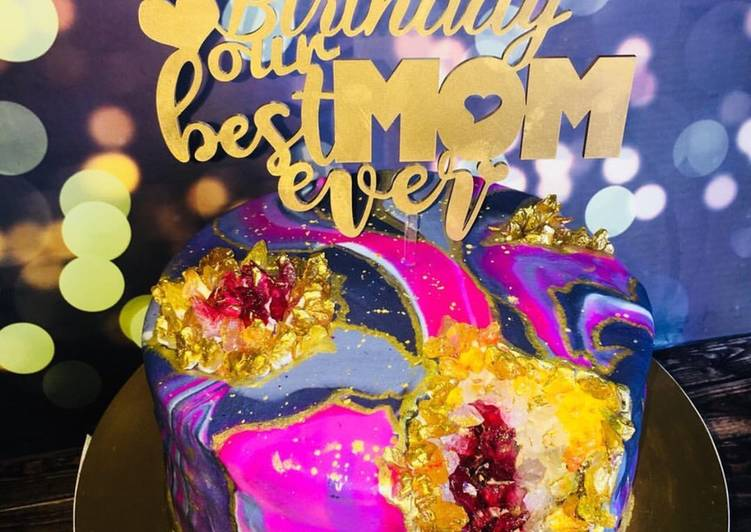 Resep Geode Cake For Mom S Bday Oleh Indah Theng Cookpad