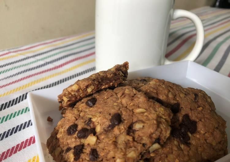 6 Langkah Panduan Membuat Cookies Oat Coklat Keju Yang Sederhana